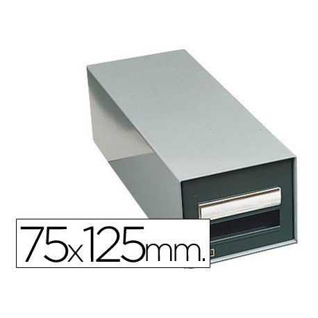 Fichero Liderpapel metálico fichas 75 x 125 mm