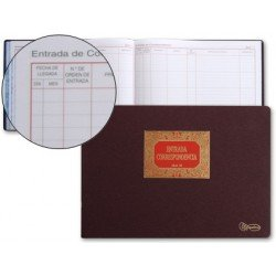 Libro Miquelrius folio formato apaisado entrada de correspondencia