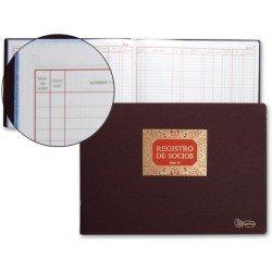 Libro Miquelrius Nº13 Registro de socios formato folio apaisado