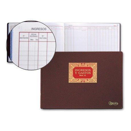 Libro Miquelrius tamaño folio ingresos y gastos 100 hojas