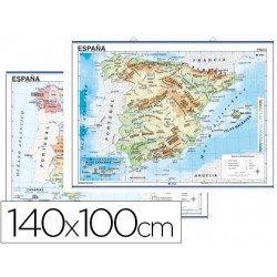 Mapa mural de España fisico-politico