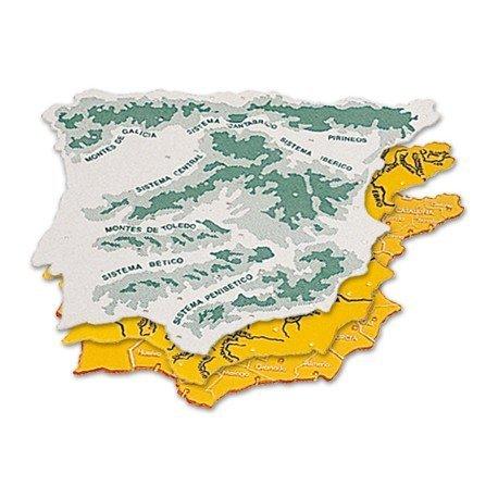 Plantilla mapa de España 22 x 18 cm