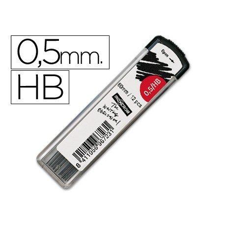 Minas Inoxcrom grafito de 0,5 mm hb estuche de 12 minas