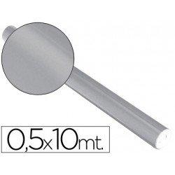 Papel metalizado Sadipal plata 65g/m2 medidas 50x10 cm