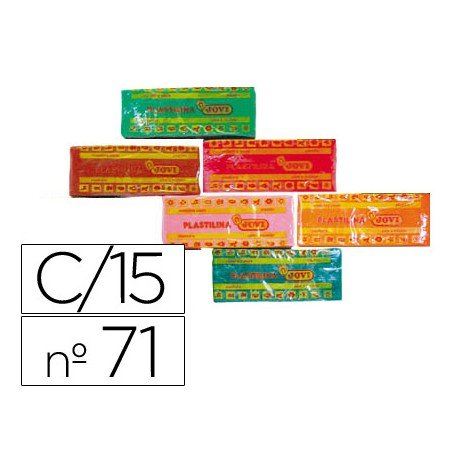 Plastilina Jovi Colores surtidos mediano Caja 15