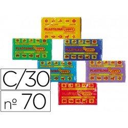 Plastilina Jovi colores surtidos pequeña Caja 30
