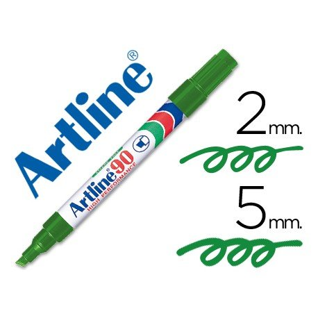 Rotulador permanente Artline EK-90 Recargable Color Verde