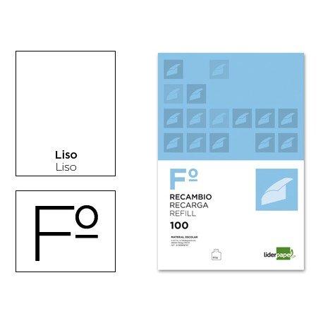 Recambio Liderpapel Folio impresión lisa