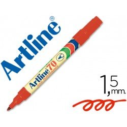 Rotulador permanente Artline EK-70 Recargable Color Rojo