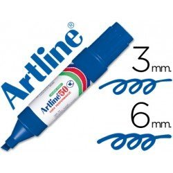 Rotulador permanente Artline Recargable EK-50 Color Azul