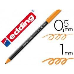 Rotulador Edding 1200 naranja nº 6