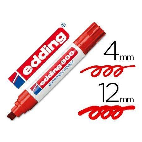 Rotulador Permanente Edding 800 Color Rojo Punta Biselada