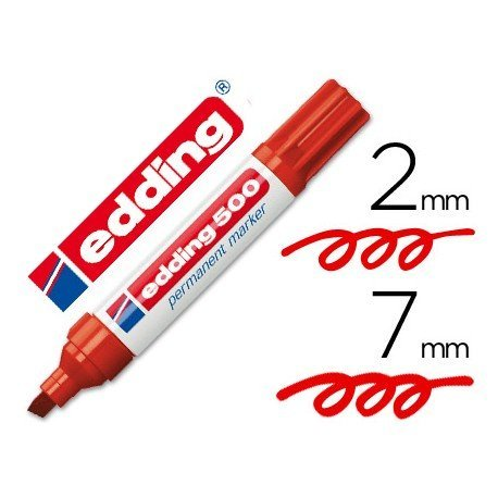 Rotulador Edding 500 rojo