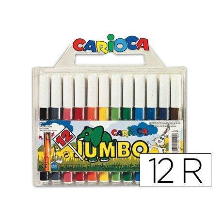 Rotulador Carioca Jumbo grueso lavable caja 12 rotuladores