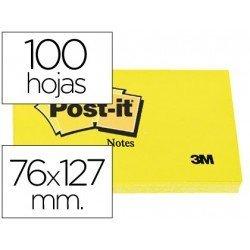 Post-it ® Bloc de notas adhesivas color amarilo 76x127 mm