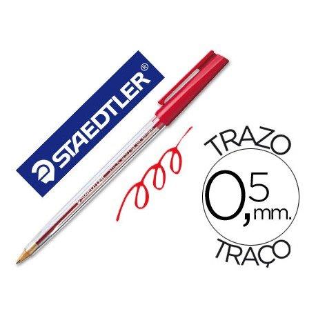 Bolígrafo Staedtler stick rojo 0,5 mm