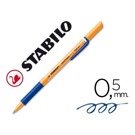 Rotulador-bolígrafo Stabilo roller visco azul 0,5 mm.