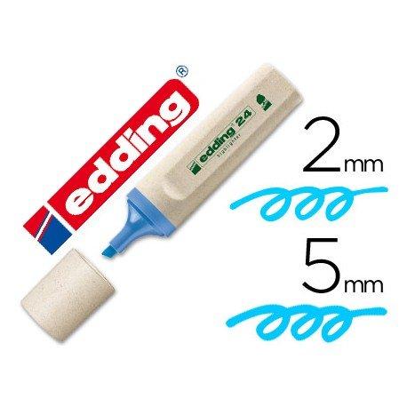 Rotulador Marca Edding 24 Ecologico Fluorescente Azul