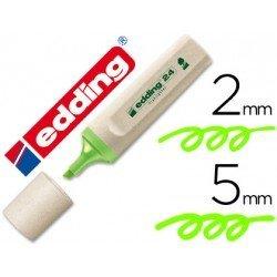 Rotulador Edding 24 Ecologico color verde fluorescente