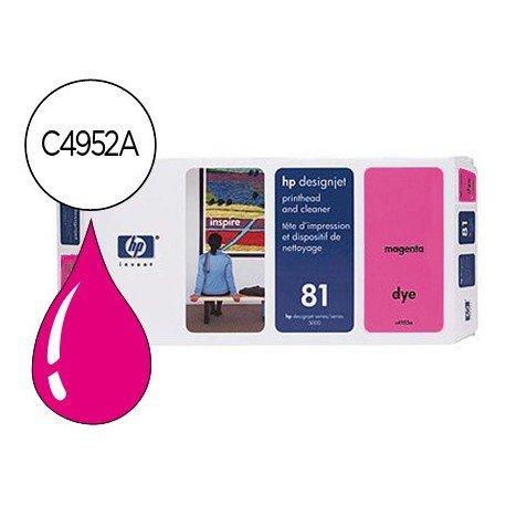 Cabezal HP 81 Magenta con limpiador C4952A DesignJet series 5000, 5500