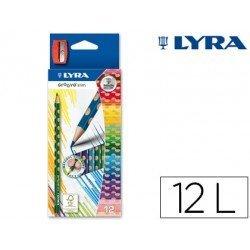 Lapices de colores Lyra Groove Slim Triangular 12 unidades + sacapuntas