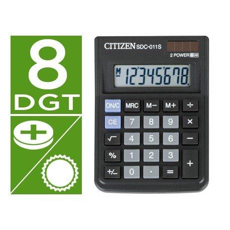 Calculadora sobremesa Citizen SDC-011S negra 10 digitos