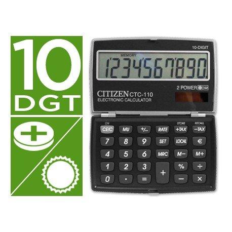 Calculadora bolsillo Citizen Modelo CTC-110 negra