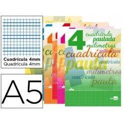 Libreta marca liderpapel pautaguia tapa cartoncillo 32 hojas din a5 70 g cuadriculado pautado 4 mm con margen