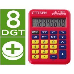 Calculadora bolsillo Citizen Modelo LC-110N rojo 8 digitos