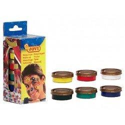 Crema maquillaje marca Jovi 8ml caja de 6 colores surtidos