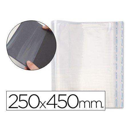 Forralibro polipropileno ajustable adhesivo medidas 250 x 450 mm