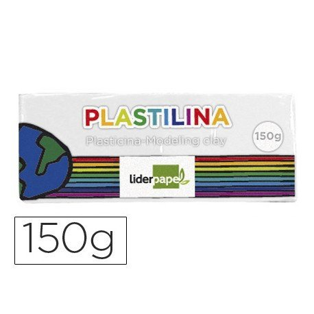 Plastilina Liderpapel color blanco mediana