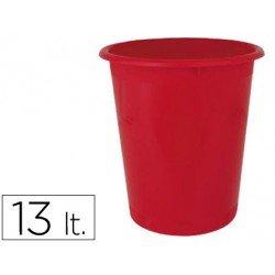 Papelera plastico Ensto Stand rojo de 13 L