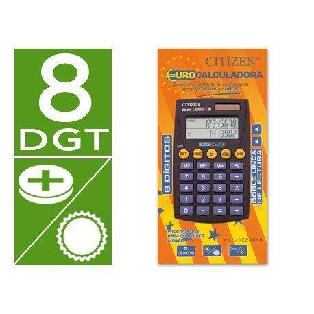 Calculadora Bolsillo Citizen Modelo DE-200 euro 8 digitos