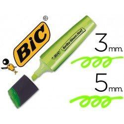 Rotulador Bic fluorescente verde