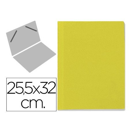 Carpeta lomo Fabrisa color amarillo 25.5x32 cm