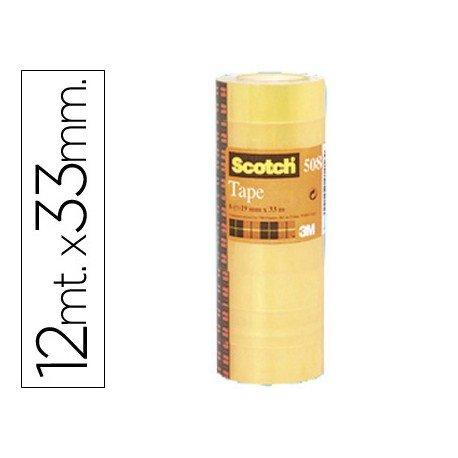 Cinta adhesiva marca Scotch 508 paquete de 12 rollos