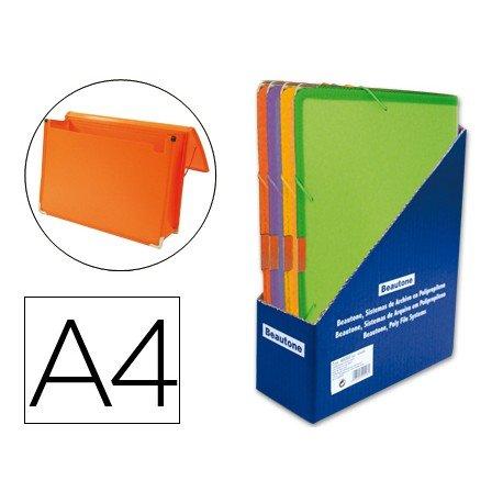 Carpeta Beautone portadocumentos Din-A4 Expositor de 16 unidades colores surtidos