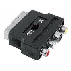 Adaptador video euroconector - svhs+3rca h (in-out)