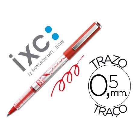 Boligrafo roller Inoxcrom free ink office campus rojo 0,5mm