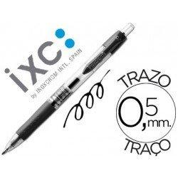 Boligrafo roller Inoxcrom gel campus negro 0,5 mm