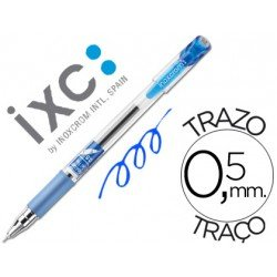 Boligrafo roller inoxcrom gel campus con grip azul 0,5 mm