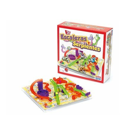Juego de mesa Falomir Escaleras y serpientes 3D
