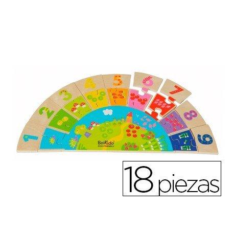 Puzzle didáctico a partir de 3 años Numeros arco iris Falomir
