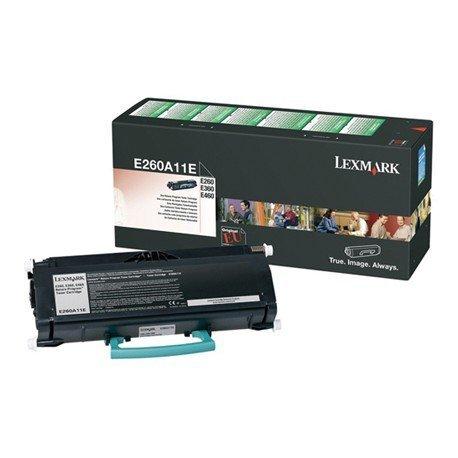 Toner lexmark E260A11E color negro