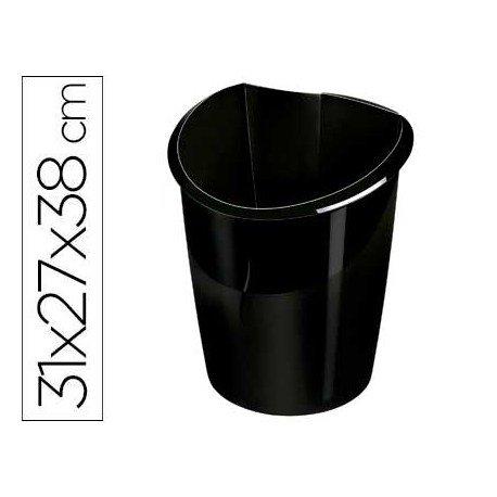 Papelera negra Cep Isis de 15 L