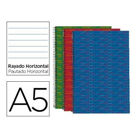 Bloc Liderpapel serie Multilider Din A5 rayado horizontal