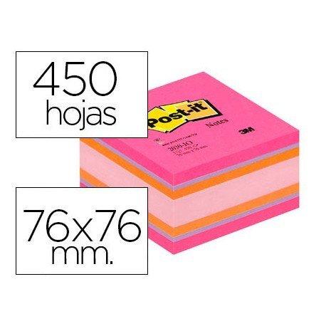 Cubo de notas adhesivas quita y pon post-it ®