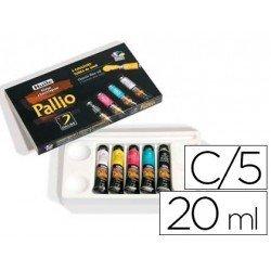 Pintura oleo Pallio caja carton de 5 colores primarios tubo de 20 ml
