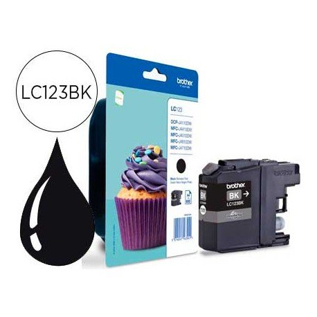 Ink-Jet Brother LC-123 BK negro